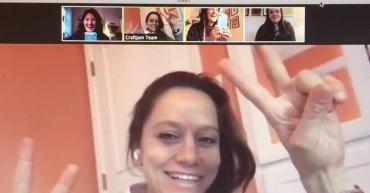 screenshot of video meeting