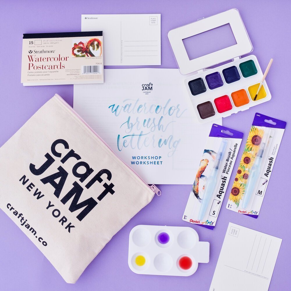 Our workshops come with the most beautiful supply kits.